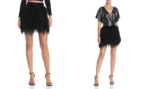 AQUA LUXE Capsule Ostrich Feather Skirt - 100% Exclusive - Bloomingdale's_2