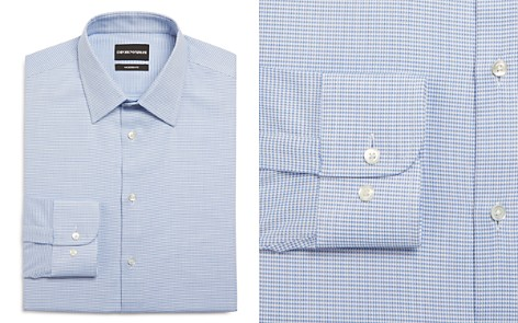 Emporio Armani Micro Houndstooth Regular Fit Dress Shirt - Bloomingdale's_2