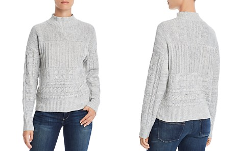 AQUA Cable-Knit Mock-Neck Sweater - 100% Exclusive - Bloomingdale's_2