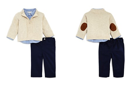 Miniclasix Boys' Sweater, Button Down Shirt & Pants Set - Baby - Bloomingdale's_2