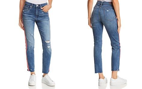 BLANKNYC Distressed Side-Stripe Jeans in Now or Never - Bloomingdale's_2