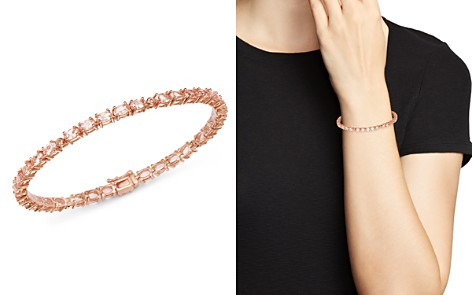Bloomingdale's Morganite & Diamond Bracelet in 14K Rose Gold - 100% Exclusive_2