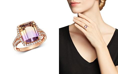 Bloomingdale's Ametrine & Diamond Cocktail Ring in 14K Rose Gold - 100% Exclusive _2