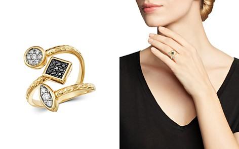 Bloomingdale's Diamond & Black Diamond Geometric Ring in 14K Yellow Gold - 100% Exclusive_2