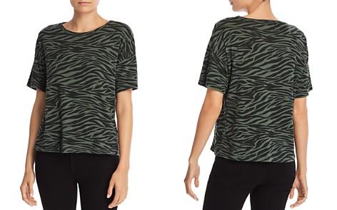 LNA Zebra Stripe Boxy Tee - Bloomingdale's_2