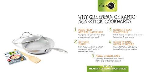 "GreenPan Venice Pro 11"" Ceramic Nonstick Covered Frypan w/ Bamboo Turner & Mini Cookbook - Bloomingdale's Registry_2"