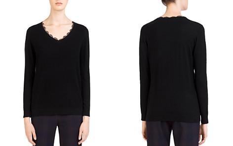 Gerard Darel Chloé Lace-Trim Sweater - Bloomingdale's_2