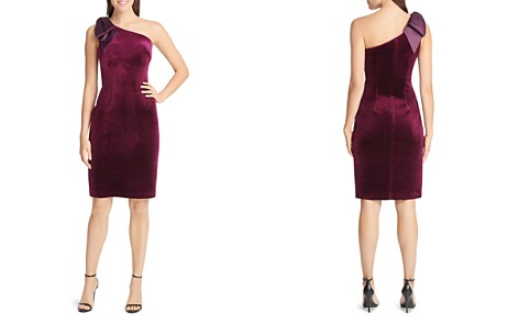 Eliza J Velvet Bow-Shoulder Sheath Dress - Bloomingdale's_2
