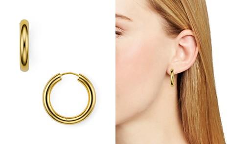 Argento Vivo Seamless Medium Hinge Hoop Earrings - Bloomingdale's_2