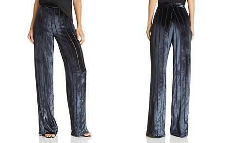 Michelle Mason Striped Velvet Pants - Bloomingdale's_2