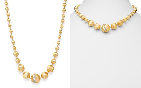 """Marco Bicego 18K Yellow Gold Africa Constellation Diamond Boules Necklace, 18"""" - Bloomingdale's_2"""