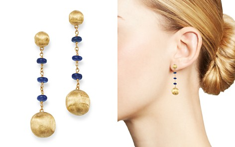 Marco Bicego 18K Yellow Gold Africa Precious Sapphire Drop Earrings - Bloomingdale's_2