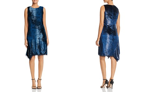 Elie Tahari Serenity Metallic Velvet Dress - Bloomingdale's_2
