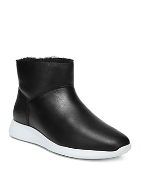 Vince - Women's Adora Leather & Shearling Sneaker Boots