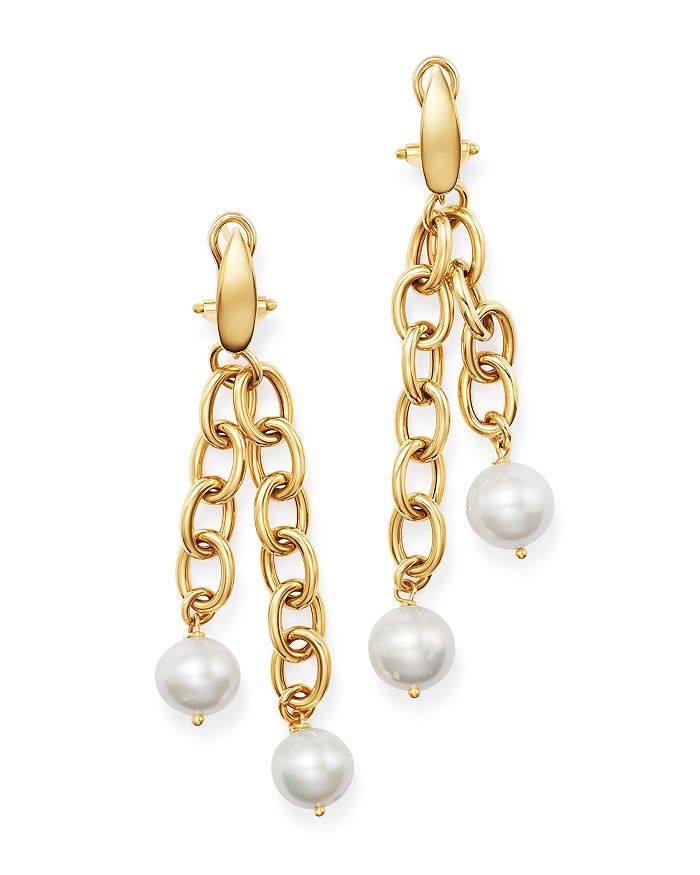 Cultured Freshwater Pearl Dangle Drop Earrings In 14k Yellow Gold 100 Exclusive