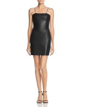 AQUA - Faux Leather Mini Dress - 100% Exclusive