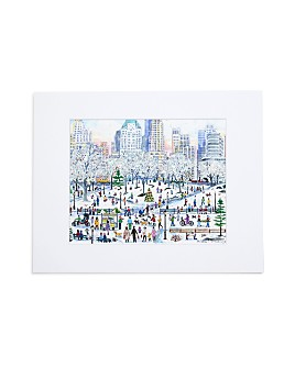 """Michael Storrings - Central Park Holiday Print, 11"""" x 14"""""""