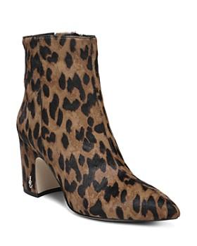 Sam Edelman - Women's Hilty Leopard Print Calf Hair Booties