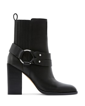 Dolce Vita - Women's Isara Leather Harness Block Heel Booties