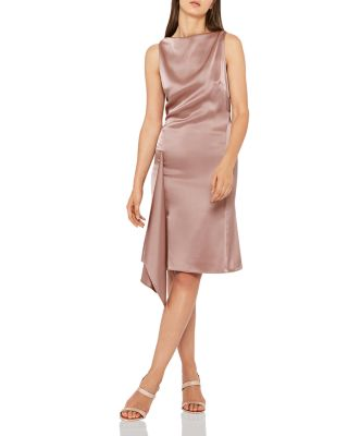 Serenella Draped Satin Dress by Reiss