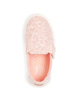 TOMS - Girls' Luca Embroidered Glitter Flats - Baby, Walker, Toddler