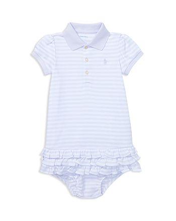 ef954576 Ralph Lauren Girls' Striped Ruffled Polo Dress & Bloomers Set - Baby ...