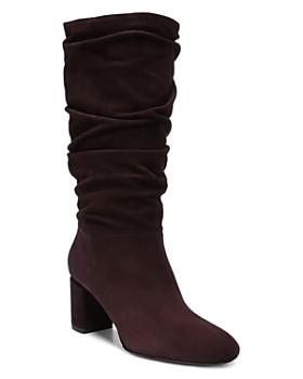 66326c11e7b Via Spiga - Women s Naren Suede Tall Slouch Boots ...
