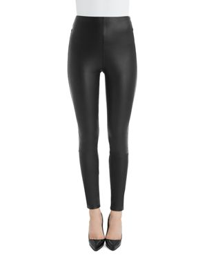 LYSSÉ Jones Faux Leather Leggings in Kohl Black