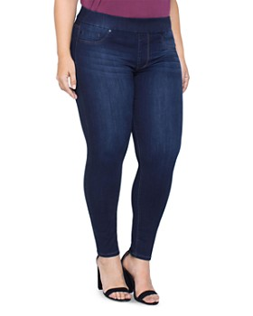 Liverpool Plus - Pull-On Ankle Jeans in Dynasty Dark