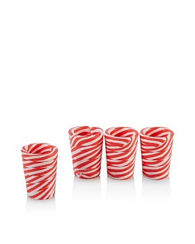 Two's Company - Peppermint Shot Glasses, Set of 4