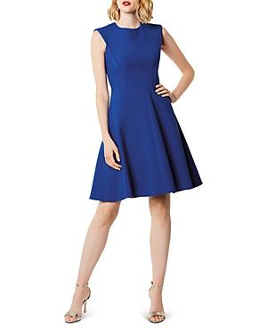Karen Millen Sculptured Fit-and-Flare Dress - 100% Exclusive