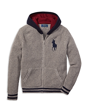 Polo Ralph Lauren Boys' Waffle-Knit Hoodie - Big Kid