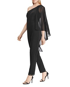 Ralph Lauren - Cape-Overlay One-Shoulder Jumpsuit - 100% Exclusive