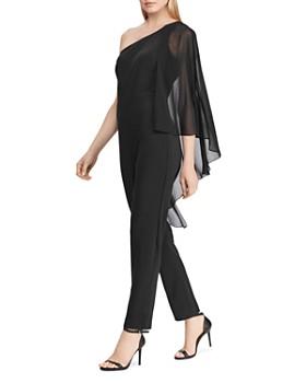 Ralph Lauren - Cape-Overlay One-Shoulder Jumpsuit - 100% Exclusive
