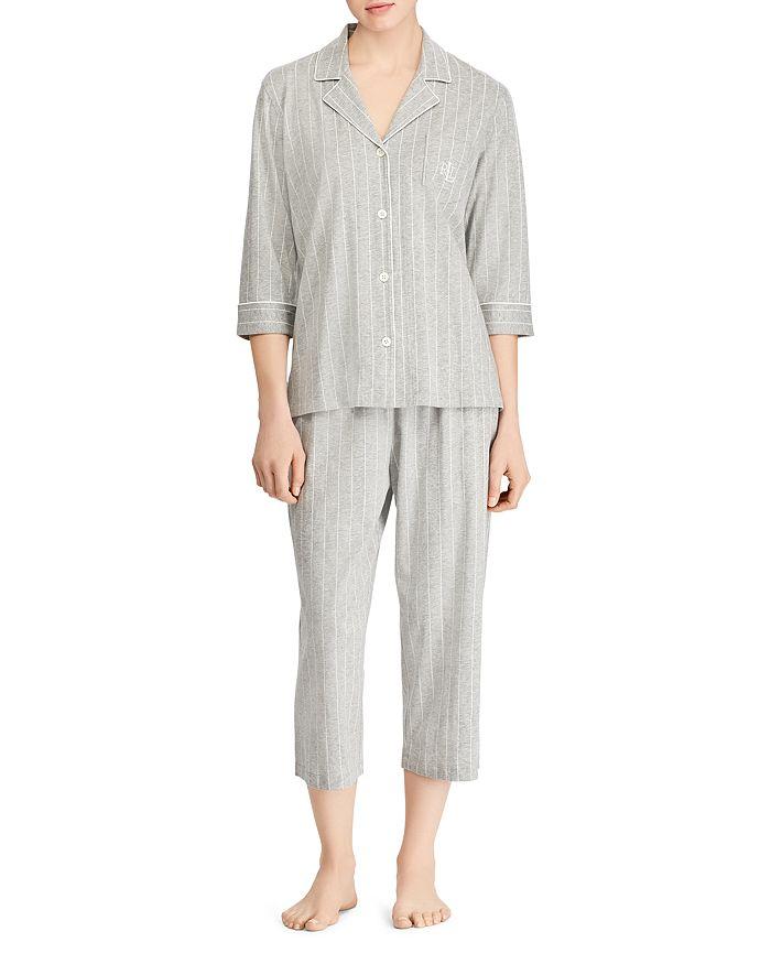 Ralph Lauren - Bingham Knits Cotton Jersey Cropped PJ Set