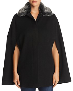 136fa6d3e2404 Helene Berman - Faux Fur-Collar Cape - 100% Exclusive