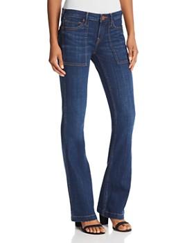 True Religion - Nikki Utility Flare Jeans in Moody River