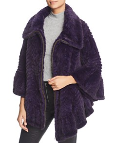 Maximilian Furs - Knit Mink Fur Cape - 100% Exclusive