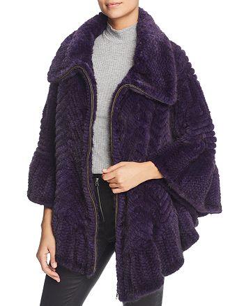 Maximilian Furs - Knit Mink Fur Cape - 100% Exclusive