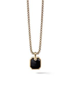 David Yurman - Roman Amulet in 18K Gold with Black Onyx