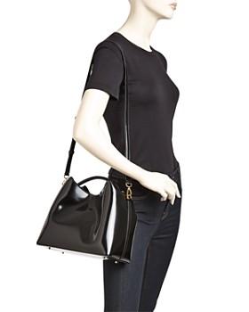 Elleme - Raisin Patent Leather Shoulder Bag