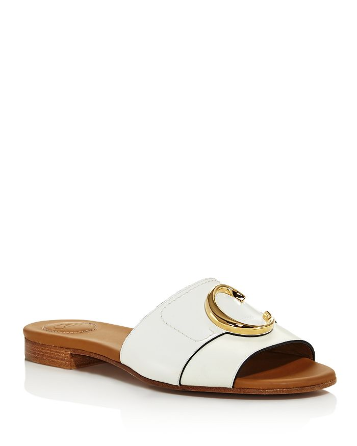 Chloé - Women's Logo Slide Sandals