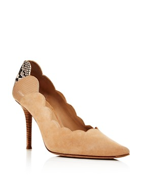 Chloé - Women's Lauren Scalloped Pointed-Toe Pumps
