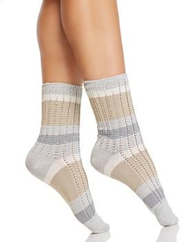 HUE - Supersoft Ribbed Striped Socks