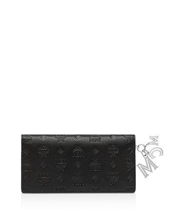 MCM - Klara Leather Logo Charm Wallet
