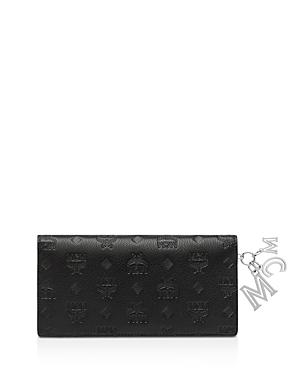 Mcm Klara Leather Logo Charm Wallet-Handbags