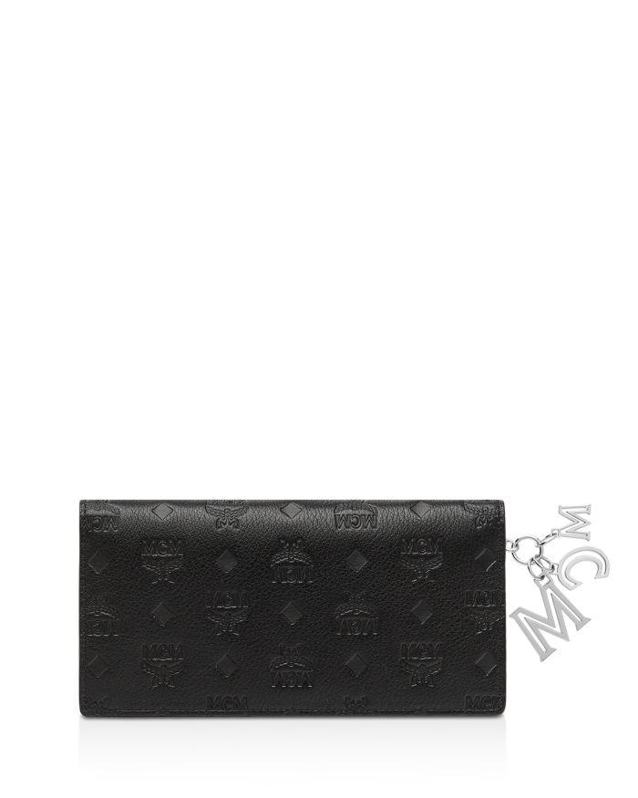MCM Klara Leather Logo Charm Wallet   | Bloomingdale's
