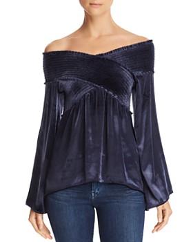 d73fddc50edb Ramy Brook - Liza Off-the-Shoulder Velvet Top - 100% Exclusive ...