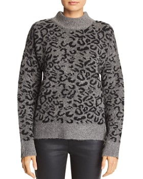 John and Jenn - Xavier Leopard-Print Sweater