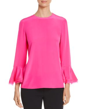 Tory Burch Tiered Flutter Sleeve Top